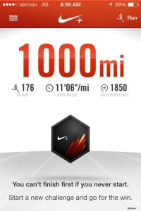 1000 miles run and done!