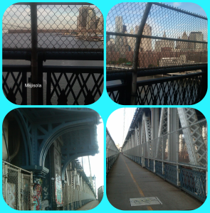 First time running on the Manhattan Bridge!